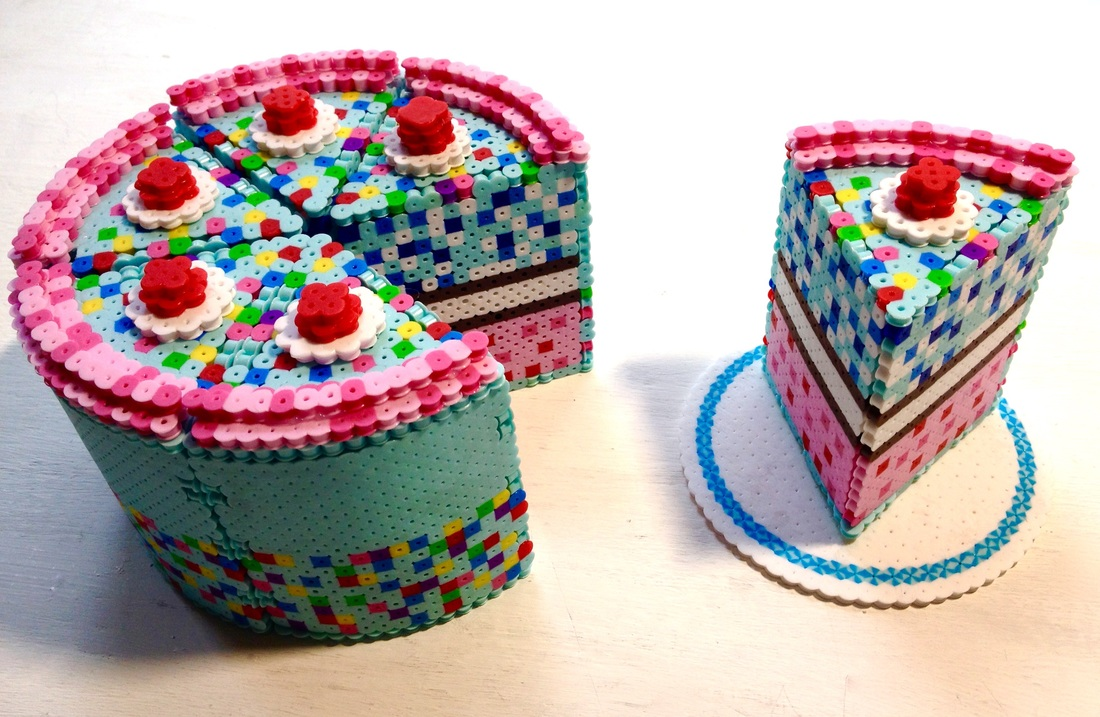 3D Perler Bead Cake - Pixel Art Shop