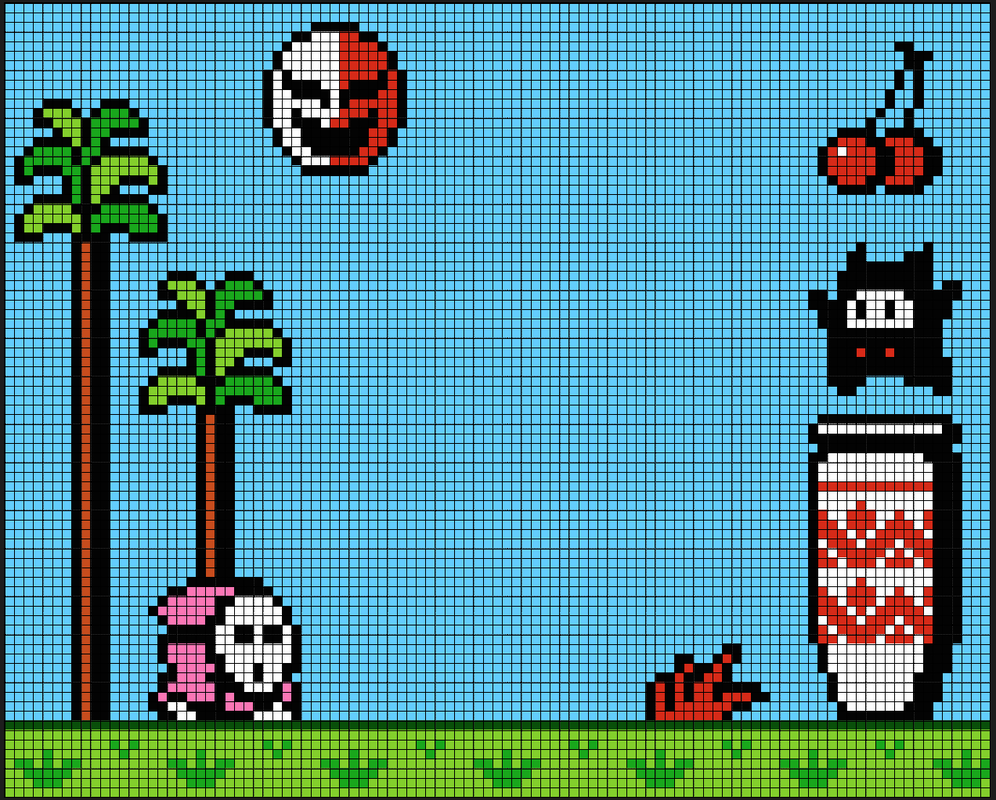 Super Mario Bros 2 Scene Perler Bead Patterns Pixel Art Shop